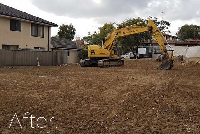 Minchinbury after demolition, NSW, 2770