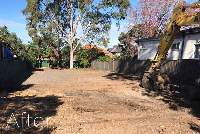 House in Caringbah after demolition, NSW, 2229