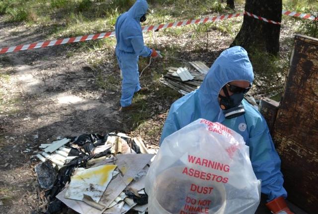 asbestos dump bush demolition sydney