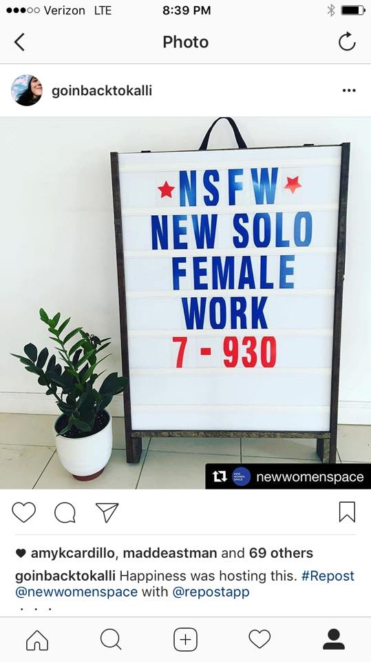 Grateful to our hosts: New Women Space in Williamsburg