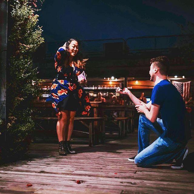 She said yes! Congratulations to Tony & Christine 💍💕