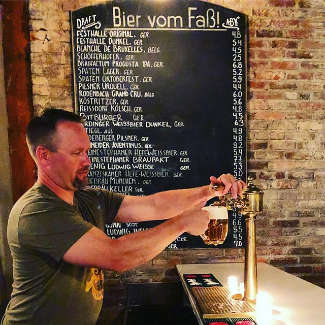 Which of our extensive draft bier collection is your favorite? Pair it with $10 schnitzel after 7 😳 Bavarski is back today at 4 with more polka and Oktoberfest love 🍻 🇩🇪