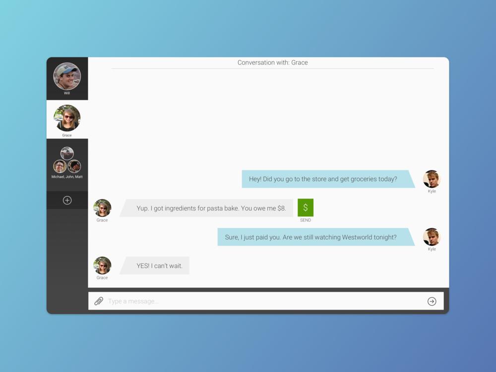 Direct messaging app.