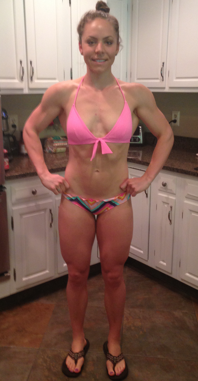 August 2014 - Mid-Prep and about 150lbs.