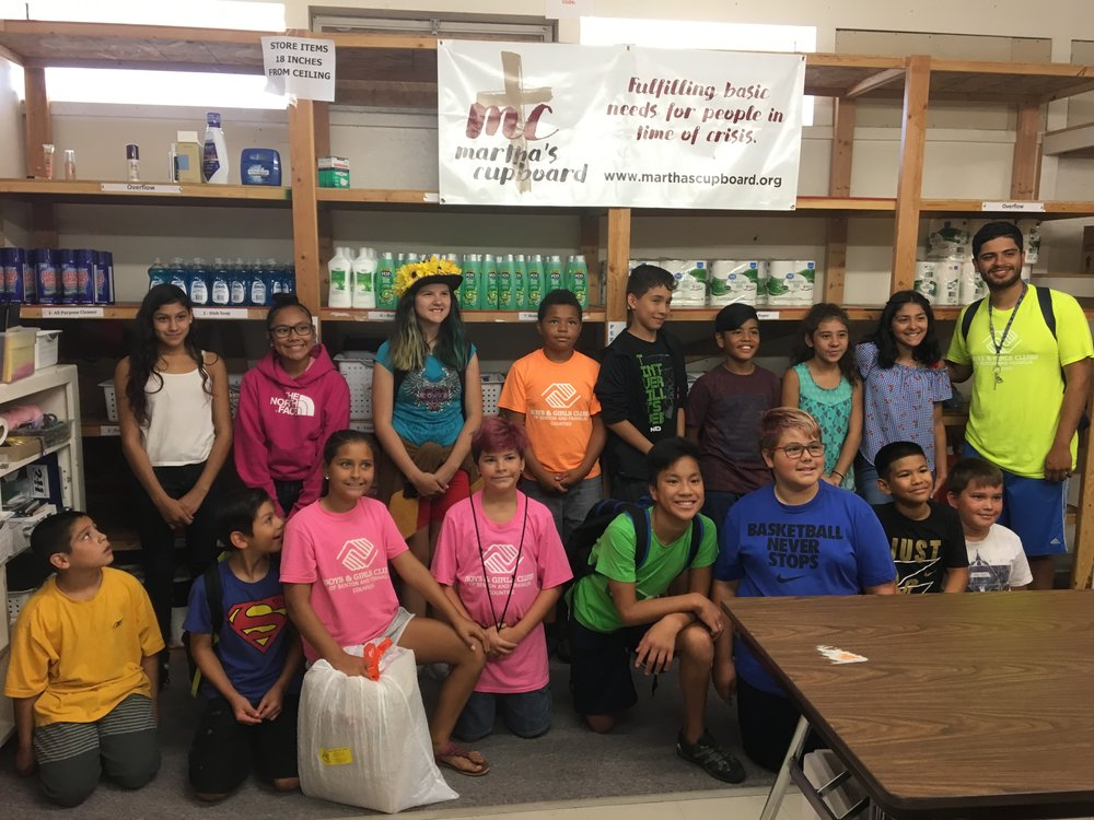 """""""We would like to thank the Boys and Girls Club group who came this summer (2018) and packed family hygiene bags! Great group of kids helping those in need in their community."""""""
