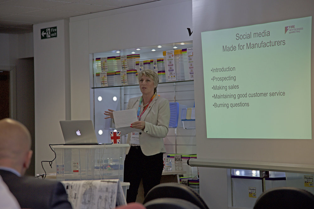 Fiona presenting at Made in Britain Workshop