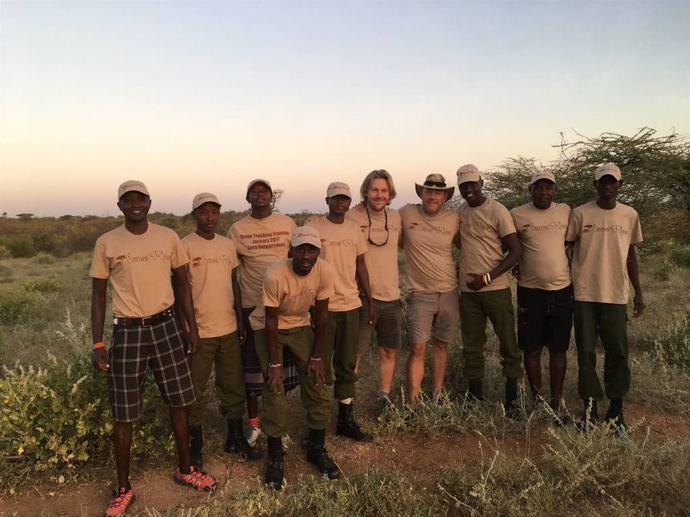 Rhino trackers trainees posing with the trainers