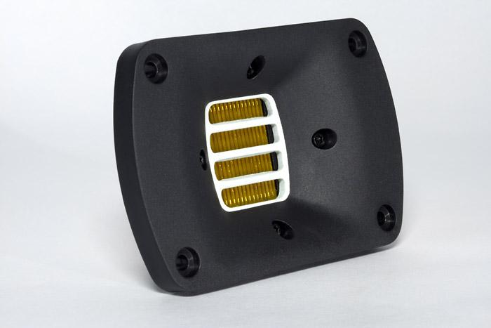 HEDD har vidareutvecklat banddiskanten som Oskar Heil uppfann på 60-talet. Diskanten är lätt, luftig och ren men samtidigt tydlig.