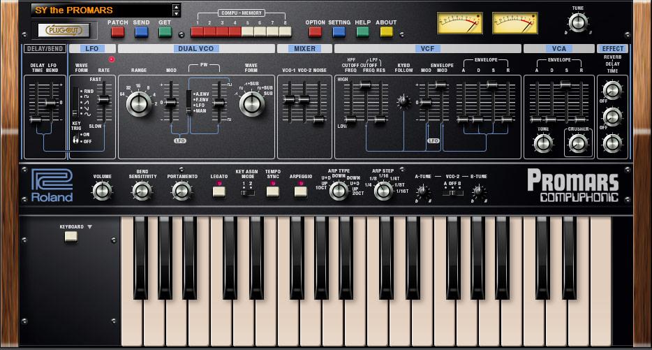Det grafiska gränssnittet kan ställas om på samtliga instrument, för att antingen visa originalet layout eller en System-1-anpassad variant.
