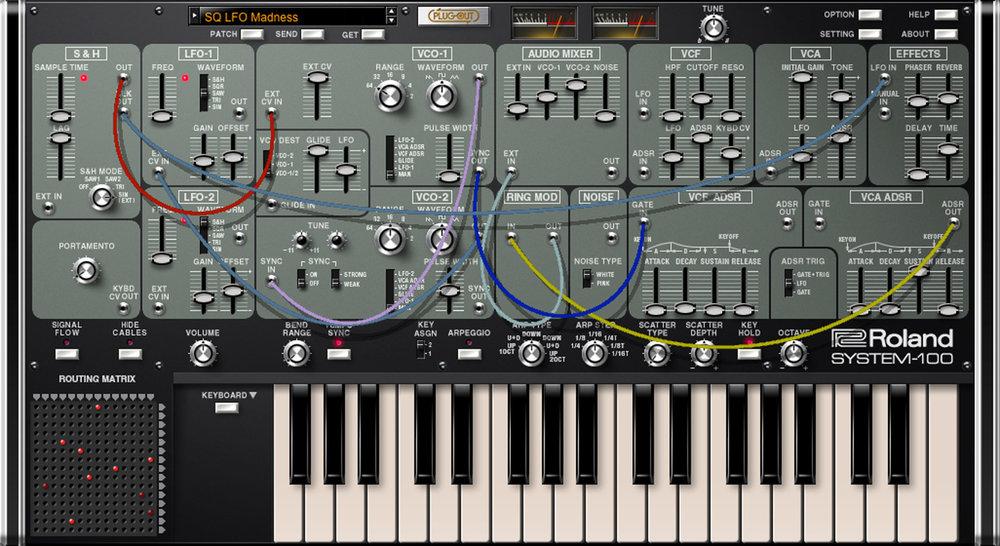 System-100 är med sina modulära egenskaper oerhört trevlig att köra ihop med exempelvis System-1m.