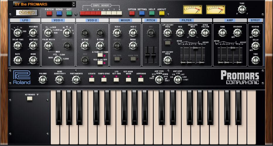 Båda VCO-rösterna samt brus balanseras med en egen mixermodul och där intill hittar vi instrumentets filterdel.