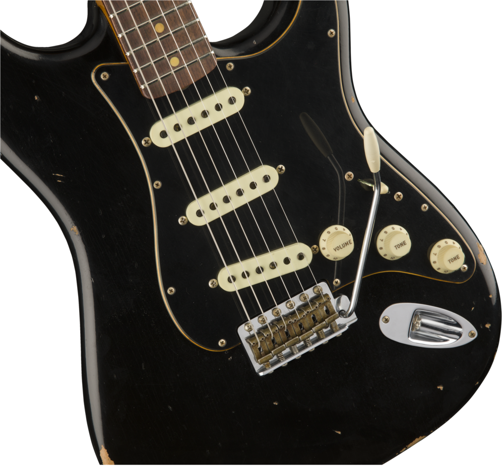 Fender Custom Shop 2017 Ltd Black Roasted Dual-Mag Strat – Relic