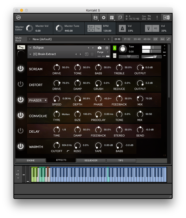 … istället för Orbits LP Filter har Eclipse Warmth-effekten.