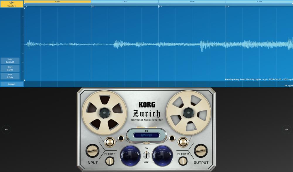 Korg Gadget har nu stöd för ljudspår, i både OS X och iOS-varianten.