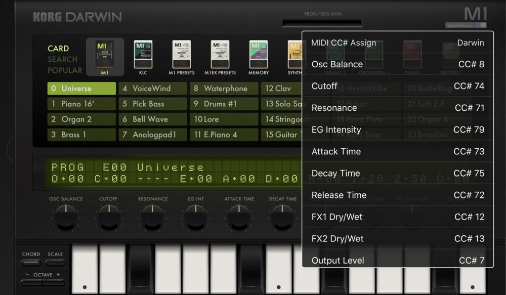 Det är lätt att få fram varje parameters MIDI CC-nummer.