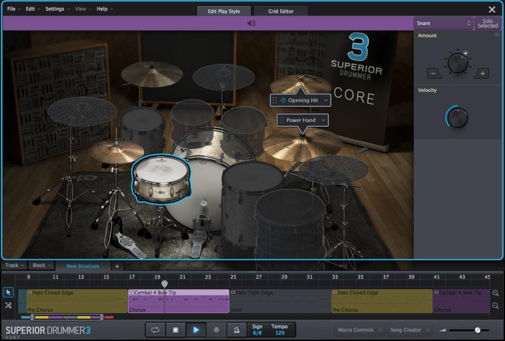 I Edit Play Style kan man göra småjusteringar av olika grooves…