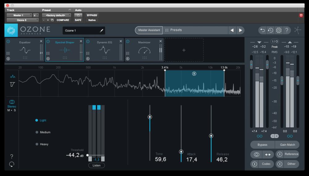 Spektralformaren är bra för att minska tillfällig skarphet eller utstickande frekvenser. Ett utsökt tillägg till repertoaren.