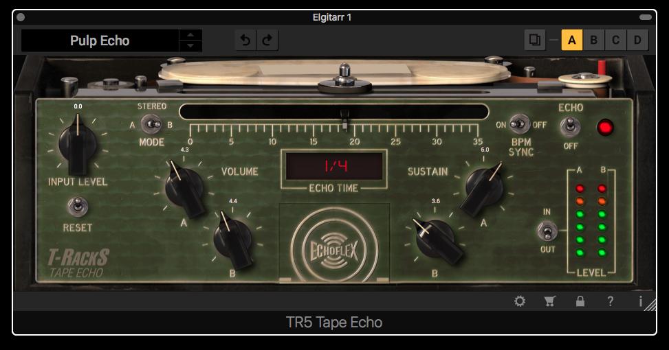 Lika snygg som den gamla Echoplexen … och lika skitigt sound.
