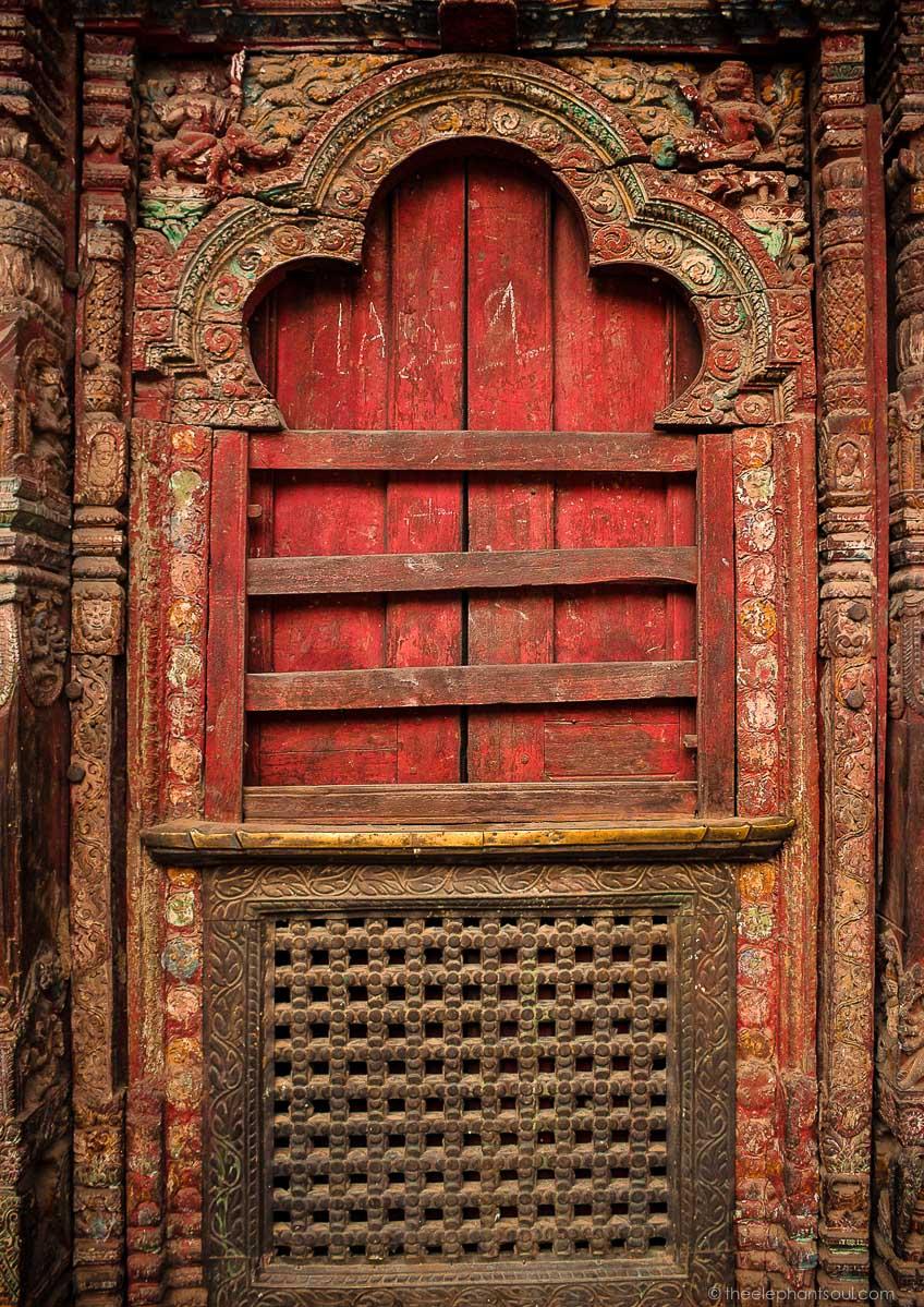 Old Hindu Temple Door - Kathmandu, Nepal