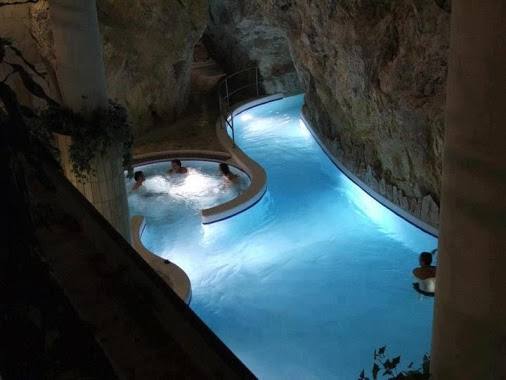 Thermal baths inside a cave, Miskolc-Tapolca, Hungary