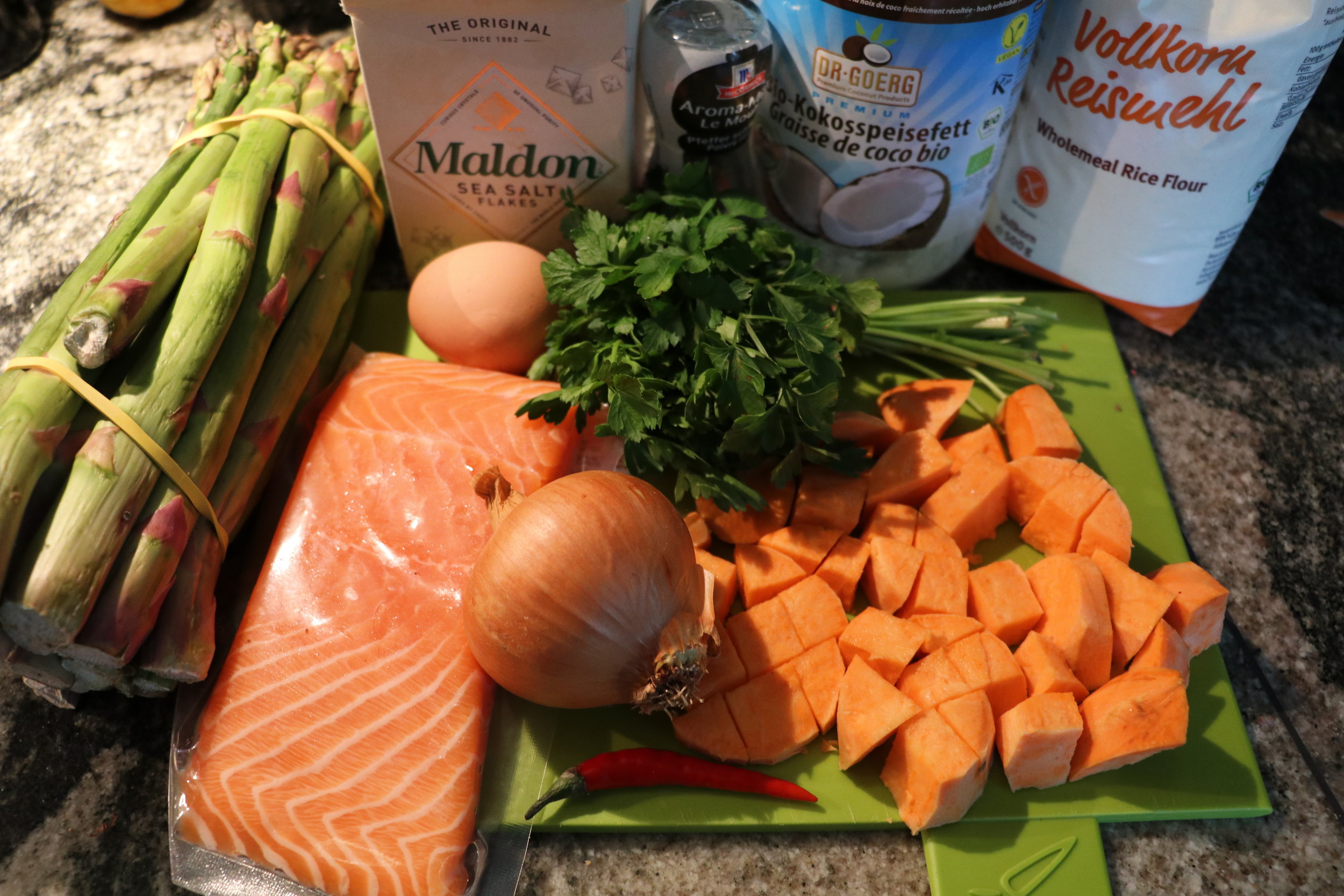 Ingredients for Sweet Potato Fish Cakes