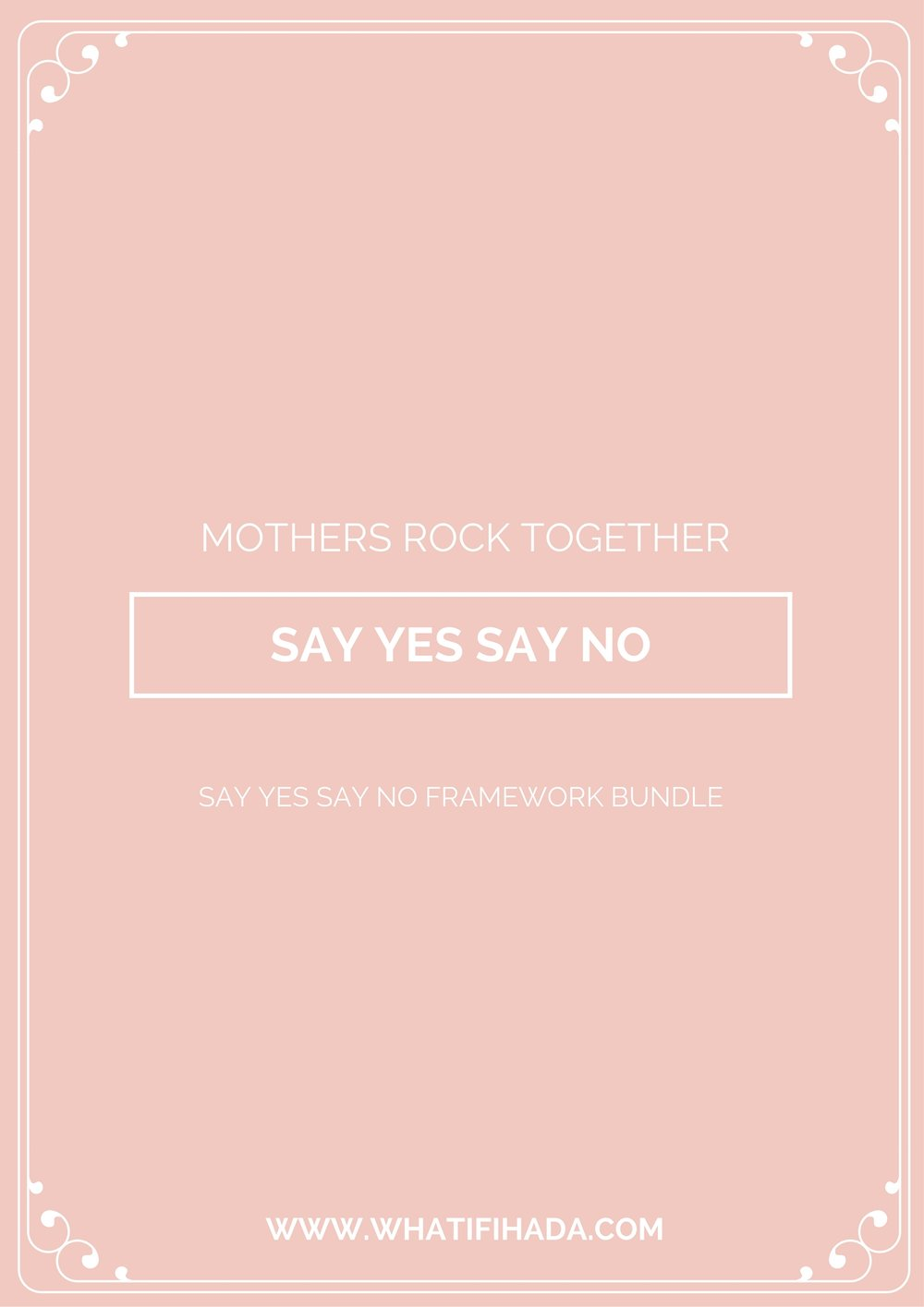 Yes and No Framework Printable