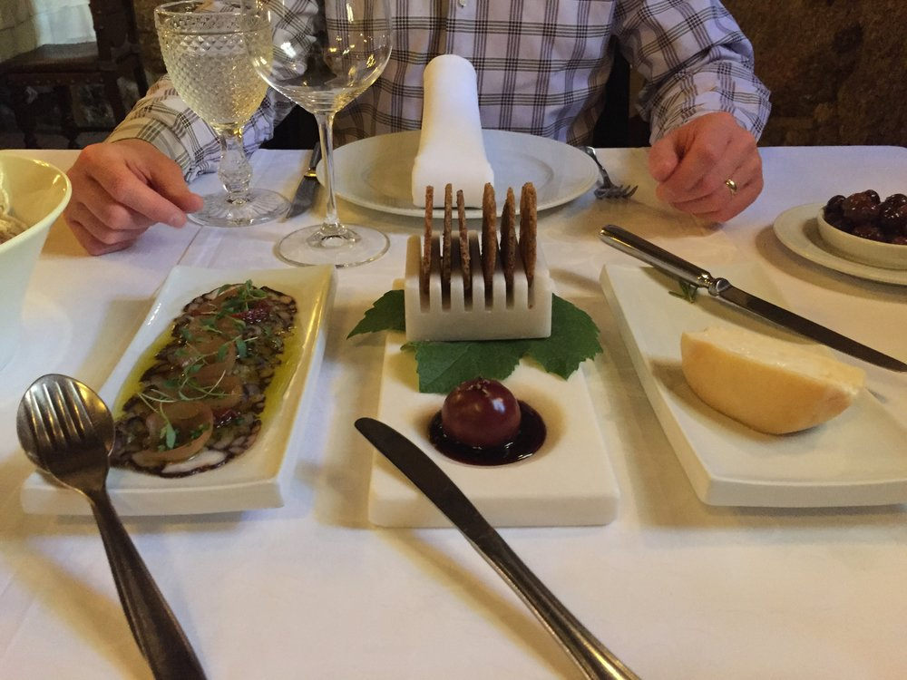 The entrees in the restaurants were always so fresh, having some sheeps cheese again!