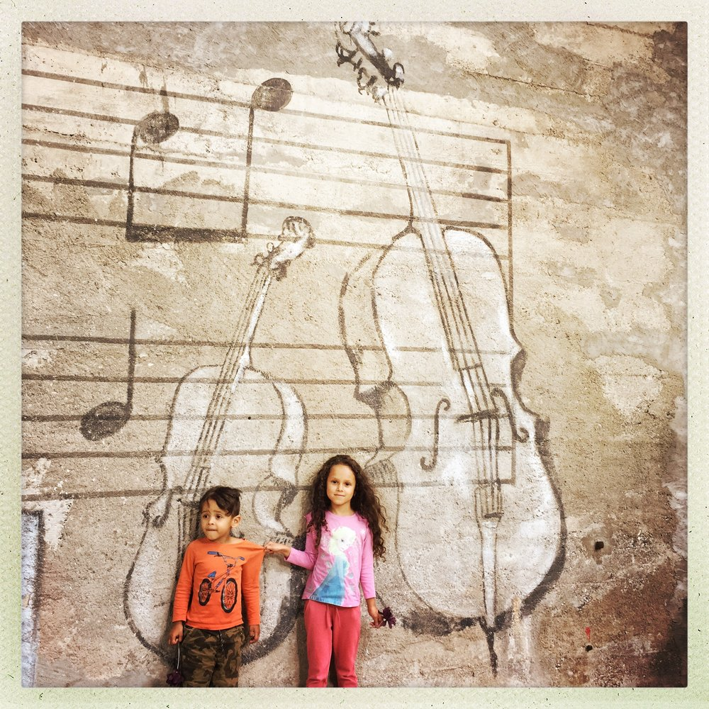 Street art between Badenfahrt exploring the main stages and sections with the kids, there was music galore: soul, jazz, folk, rock....