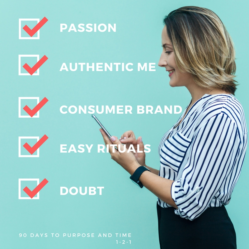 What I get 1-2-1  - Passion = Module 1, 1-2-1 coaching and your vision for your life in 3 yearsAuthentic Me = Module 2, 1-2-1 coaching and an aligned plan to live to your valuesConsumer Brand = Module 3 Peer-2-Peer Coaching, A CV, A New Branded You on Twitter, Instagram and LinkedIn, How to's on tools (Hootsuite, Followers, Crowdfire) and a 60 Day Brand to take forwardEasy Rituals = Module 4 Customise Morning Ritual, Mediation and Training Tool How To's (Apptiv, Elevate, WhatifihadaPA) 1-2-1, mind and body sharpness for each dayDoubt = Module 5, 1-2-1 coaching, a shared load, budget tool, mental energy 4 x 1-2-1 coaching, 1 x peer to peer coaching, 5 Modules (with multiple sessions), 3 months free trial WhatifIhadaPA, Group Access for Life, Invite for Legacy Makers.Total Value $ 5000