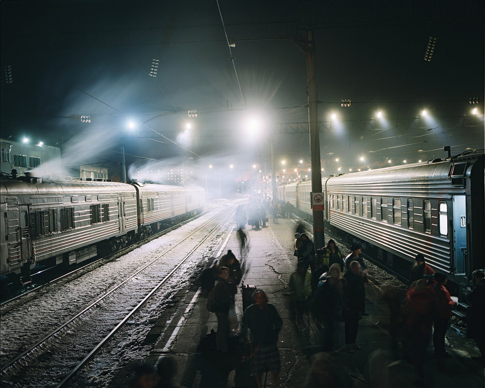 Boarding the Trans-Siberian Express at Khabarovsk for the three-day journey to Lake Baikal