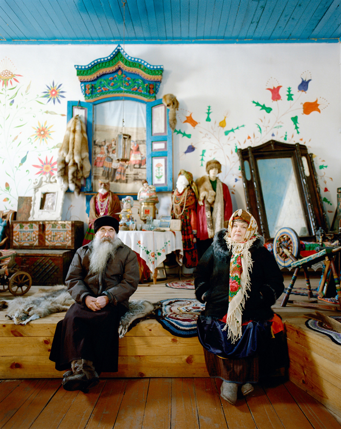 Priest Sergei Pavlya photographed in the Old Believer village of Bolshoi Kunaley, home of Olga Rimaeva's piano