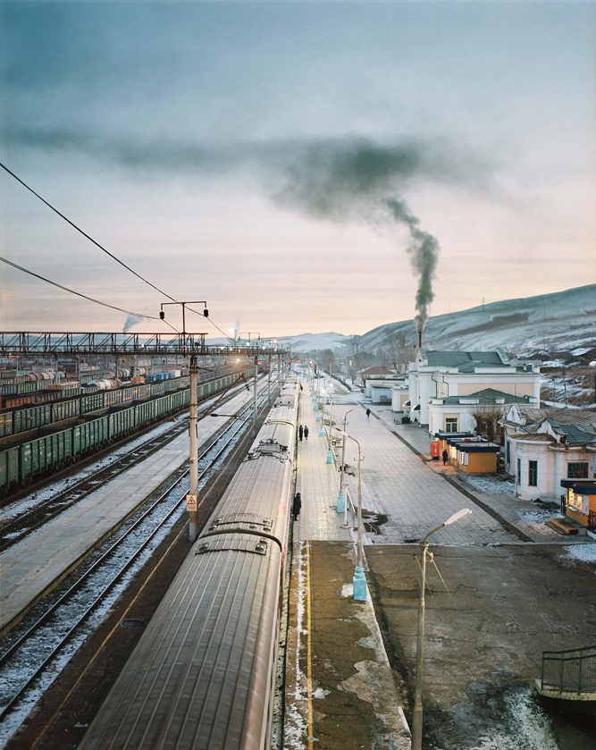 Early morning travelling the Eastern section of the Trans-Siberian Express