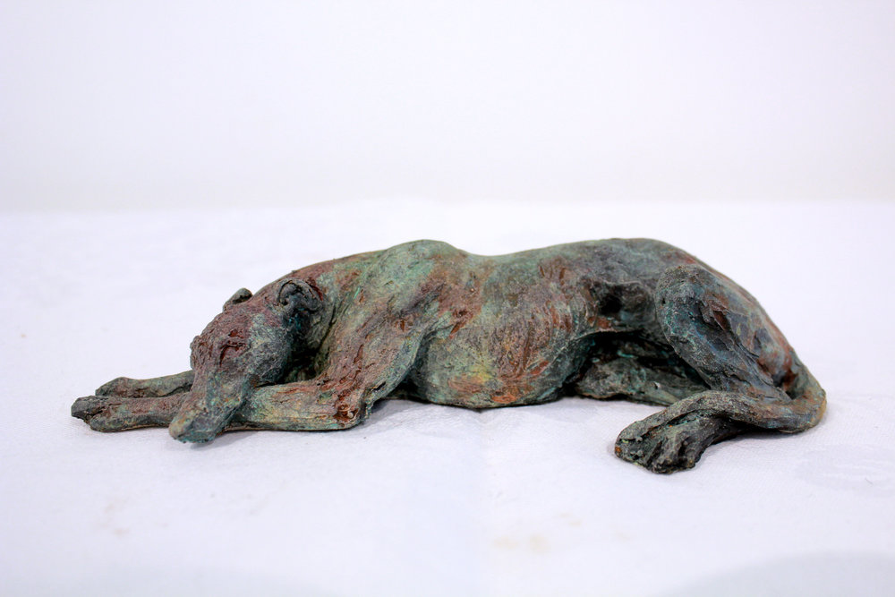carol orwin Small Greyhound 5cm H x 17cm.JPG