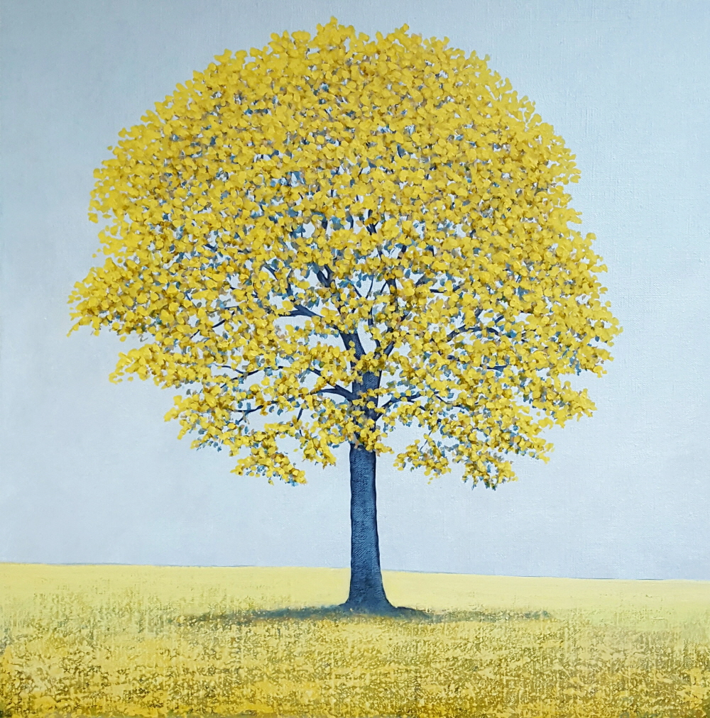 - Yellow Tree: Acrylic on linen
