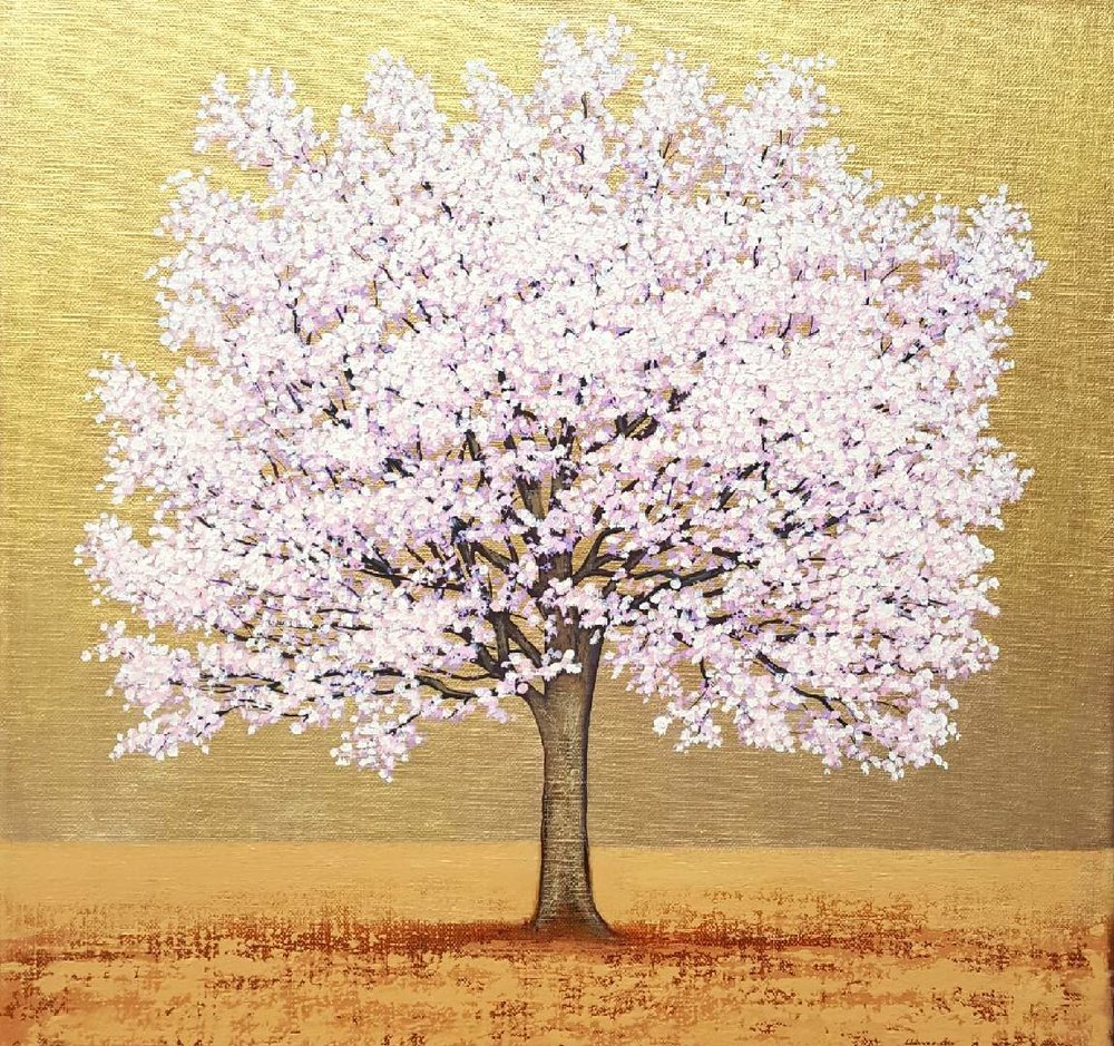 - Pink Blossom : Acrylic on Linen {Sold} Commission only
