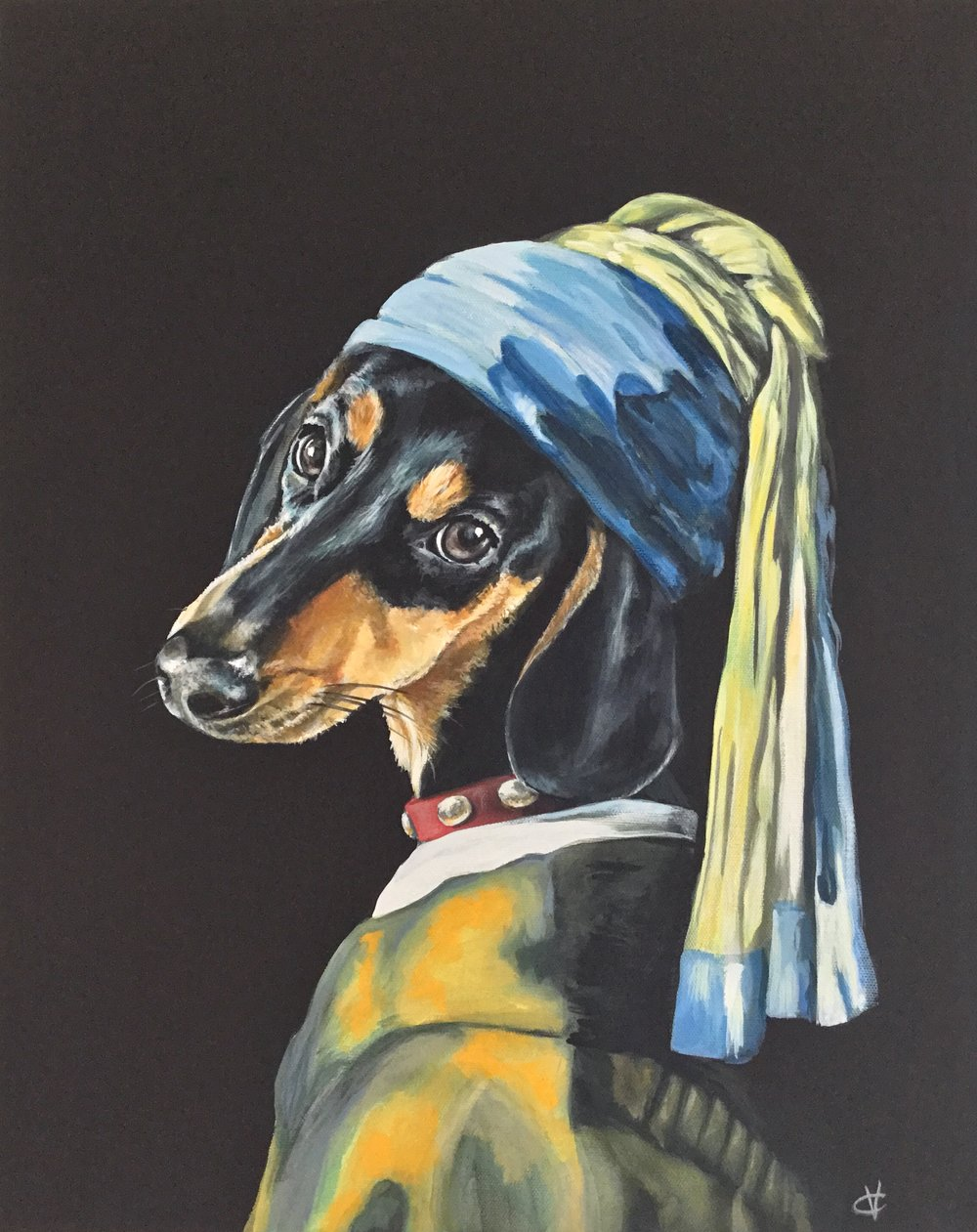 Dog with the Pearl Collar: Origonal Bristols Emulsion .£600.