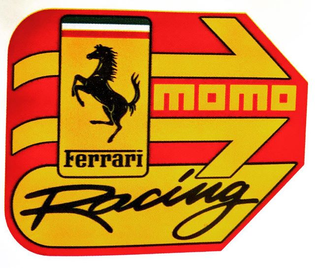 🔙in Time. MOMO/Ferrari Racing Sticker #cars #vintage #racing #ferrari #italy #cargram