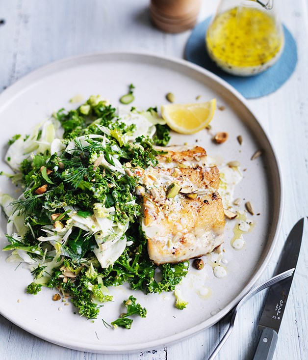 Kale, fennel and broccoli slaw image courtesy of Gourmet Traveller