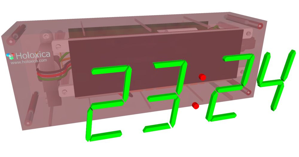 Artist's impression of a holographic clock