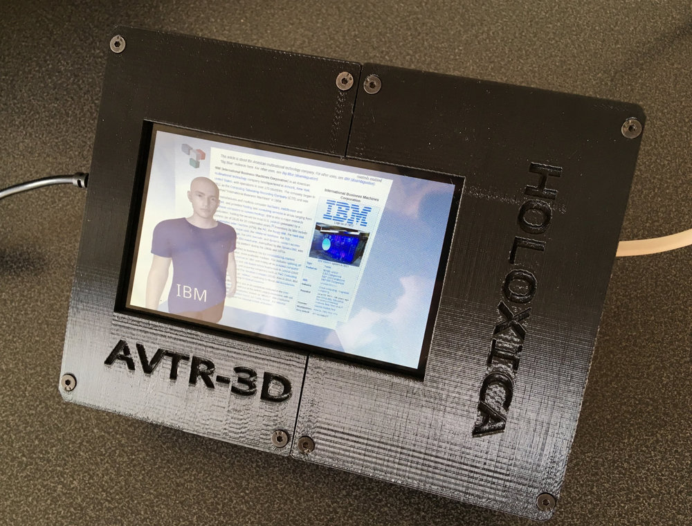 Avatar running on an embedded computer with a 4.5 inch screen