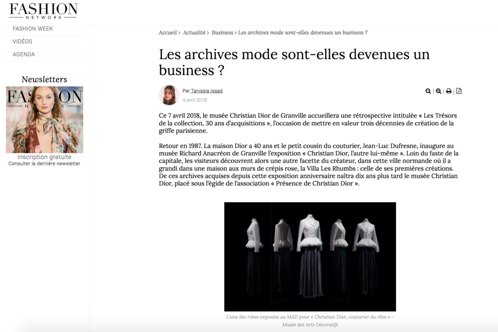 Les archives mode sont-elles devenues un business ? Fashion Network - April 2018