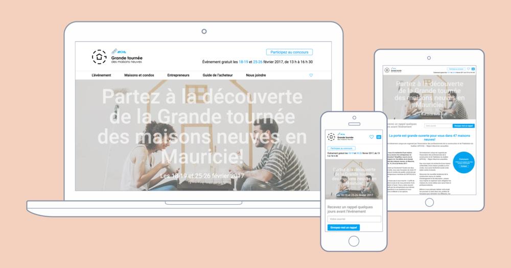 Refonte complète du site Web de La Grande Tournée des Maisons Neuves.