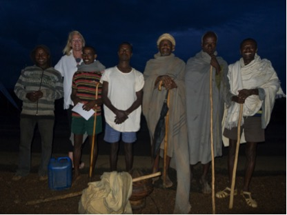 Nancy, Abebe, and friends