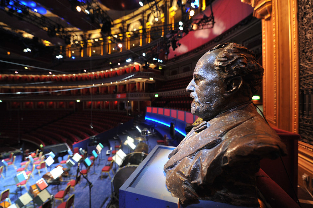 The bust of Sir Henry Wood who is brought to life in this year's Ten Pieces Prom (cred BBC/Chris Christodoulu)