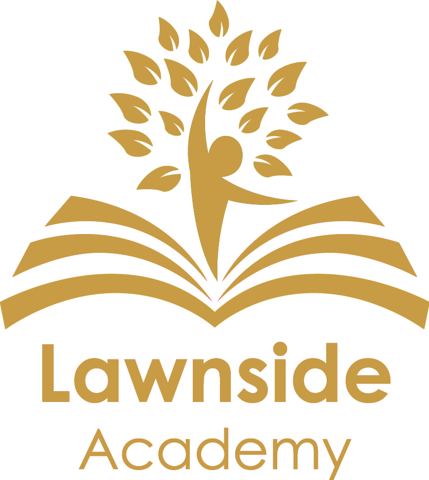 Lawnside Academy logo gold with text.png