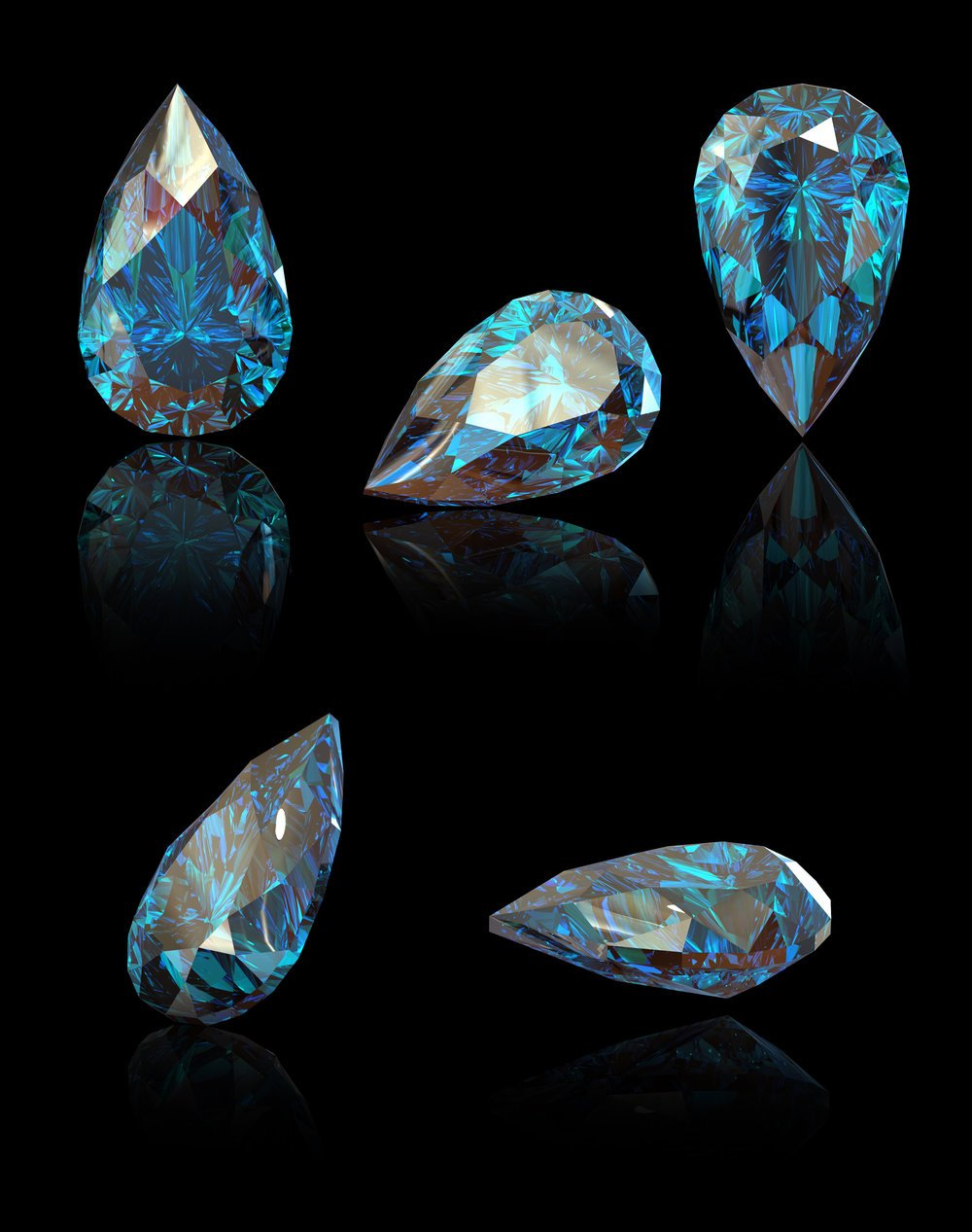 Loved ones ashes into diamonds with pear cut