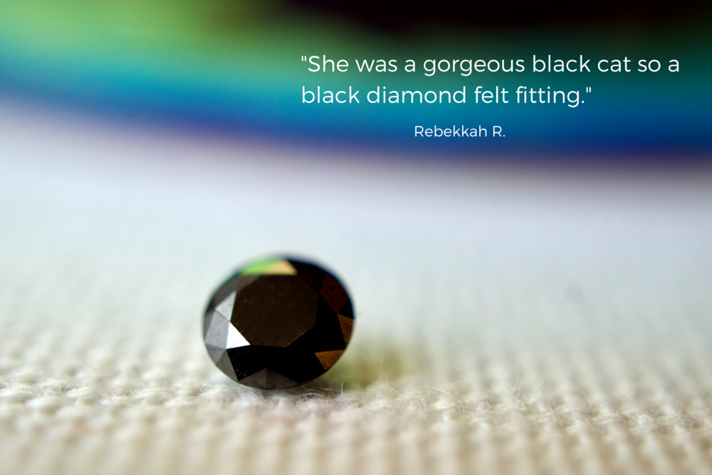 Cost of black cremation diamond