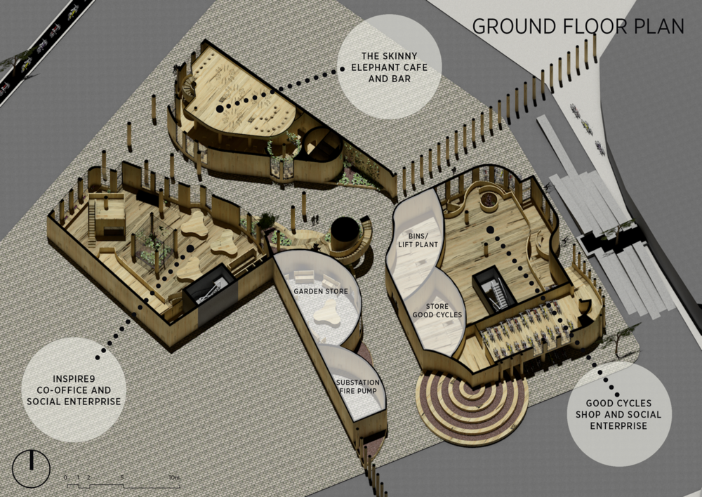 Ground Floor Plan of Nightingale Stacks
