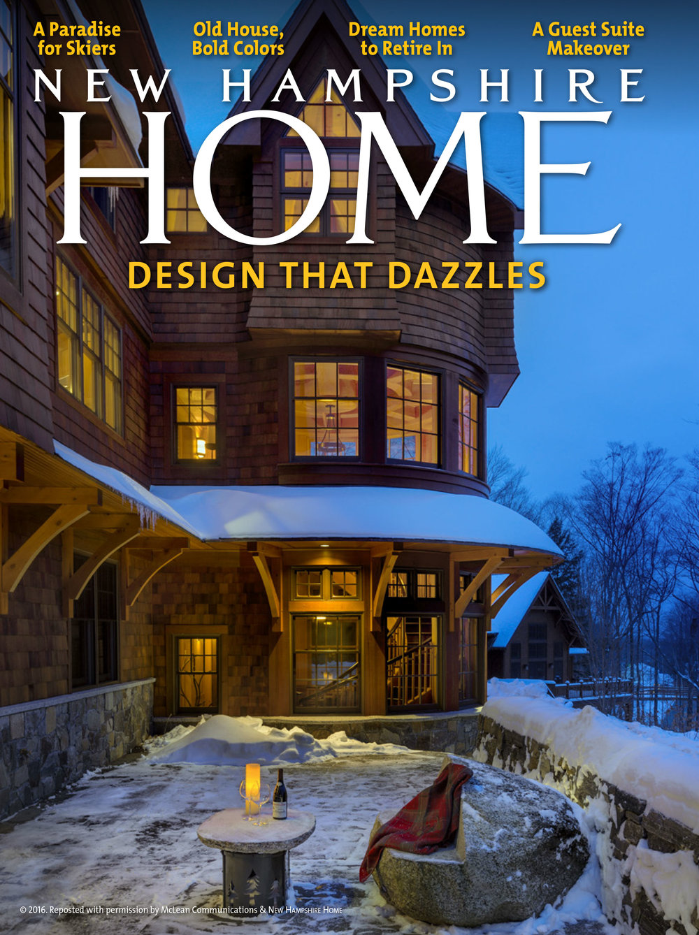 just off the ski trails in Lincoln... A custom-designed HOME for lovers of snow sports. -