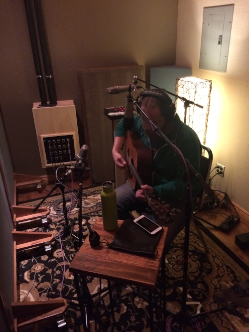 Eric recording in the studio!